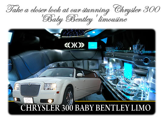 White Chrysler 300 Limo. Chrysler 300 Baby Bentley (8